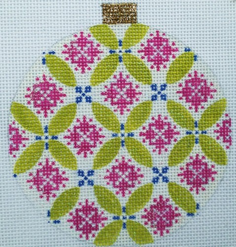 click here to view larger image of Florentine Bauble - Mauve (hand painted canvases)