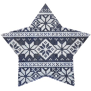 click here to view larger image of Navy Nordic Star Stripe (hand painted canvases)