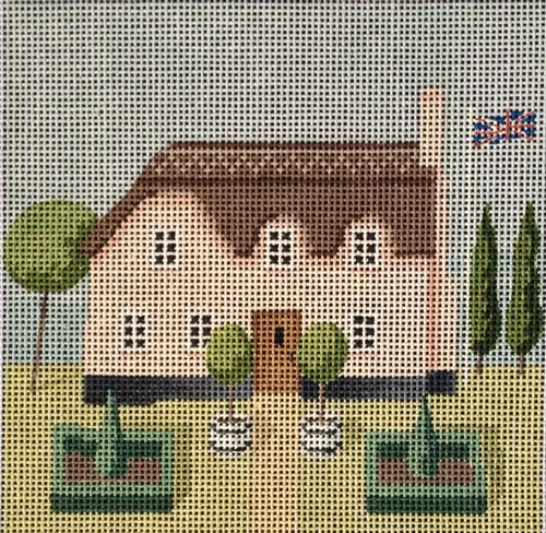 click here to view larger image of Little Britain - Thatched Roof Home (hand painted canvases)