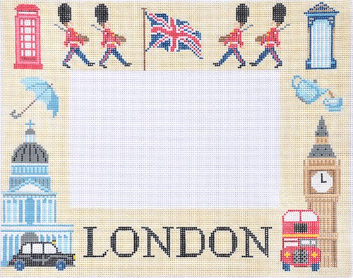 click here to view larger image of London Picture Frame (hand painted canvases)