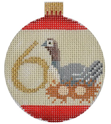 click here to view larger image of 12 Days Bauble - 6 Geese (hand painted canvases)
