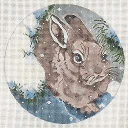 click here to view larger image of Brown Bunny Ornament (hand painted canvases)