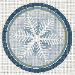 click here to view larger image of Single Snowflake Ornament (hand painted canvases)