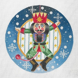 click here to view larger image of Nutcracker - Snowflake Border Ornament (hand painted canvases)