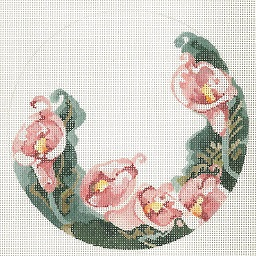 click here to view larger image of Calla Lily Composition Ornament (hand painted canvases)