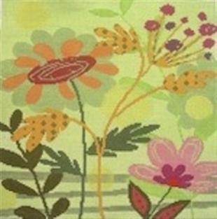 click here to view larger image of Fall Flowers (hand painted canvases)