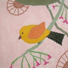 click here to view larger image of Canary (hand painted canvases)