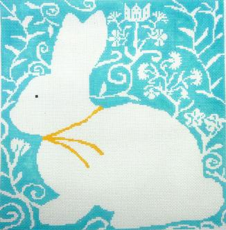 click here to view larger image of Cottontail-Aqua (hand painted canvases)