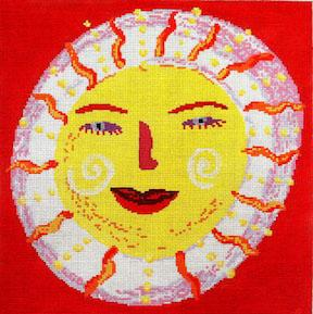 click here to view larger image of Red Sun (hand painted canvases)