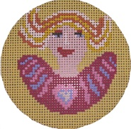 click here to view larger image of Swedish Angel-Pink (hand painted canvases)