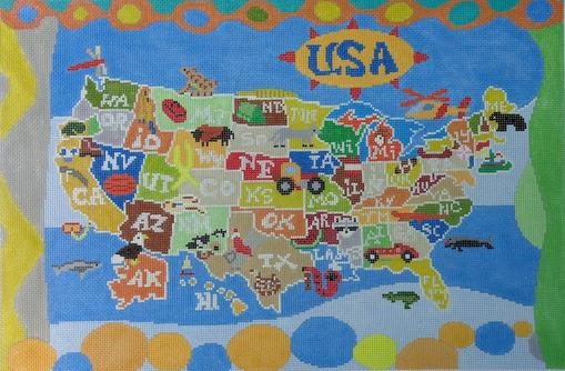 click here to view larger image of United States of Boys (hand painted canvases)