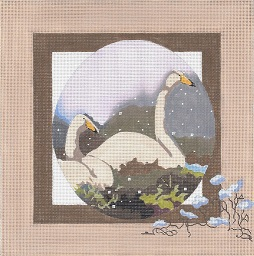 click here to view larger image of Whooper Cranes (hand painted canvases)