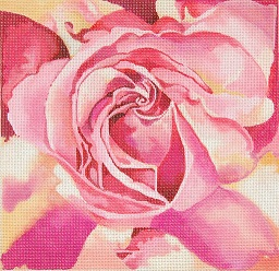 click here to view larger image of Peace Rose Pillow (hand painted canvases)