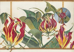click here to view larger image of African Gloriosa Lily - No Lion Border (hand painted canvases)
