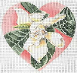 click here to view larger image of Large Gardenia - Coral Heart (hand painted canvases)
