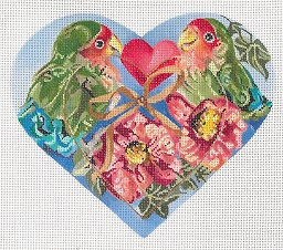 click here to view larger image of Lovebirds (hand painted canvases)