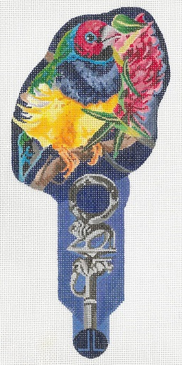 click here to view larger image of Jungle On A Stick - Finch (hand painted canvases)
