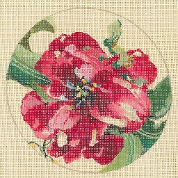 click here to view larger image of Red Tulips - Linen (hand painted canvases)