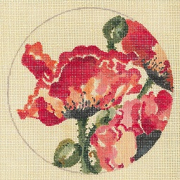 click here to view larger image of Orange Poppy - Linen (hand painted canvases)