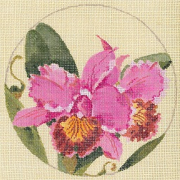 click here to view larger image of Orchids - Linen (hand painted canvases)