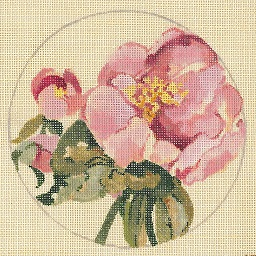 click here to view larger image of Pink Peony - Linen (hand painted canvases)