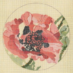 click here to view larger image of Oriental Poppy - Linen (hand painted canvases)