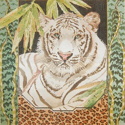 click here to view larger image of White Tiger (hand painted canvases)