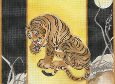 click here to view larger image of Oriental Tiger - Full Moon (hand painted canvases)