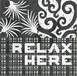 click here to view larger image of Relax Here (hand painted canvases)