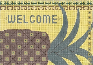 click here to view larger image of Welcome (hand painted canvases)
