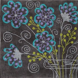 click here to view larger image of Polka Dots And Swirls (hand painted canvases)