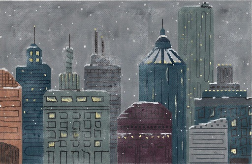 click here to view larger image of Winter In The City (hand painted canvases)
