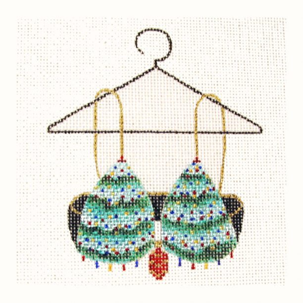 click here to view larger image of Christmas Trees Bra (hand painted canvases)