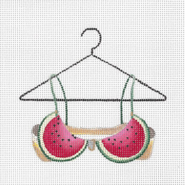 click here to view larger image of Watermelons Bra (hand painted canvases)