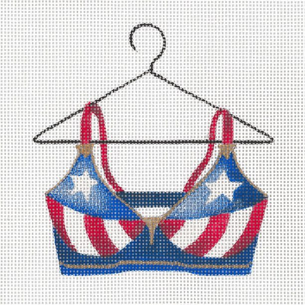 click here to view larger image of Sue's Stars & Stripes Bra (hand painted canvases)