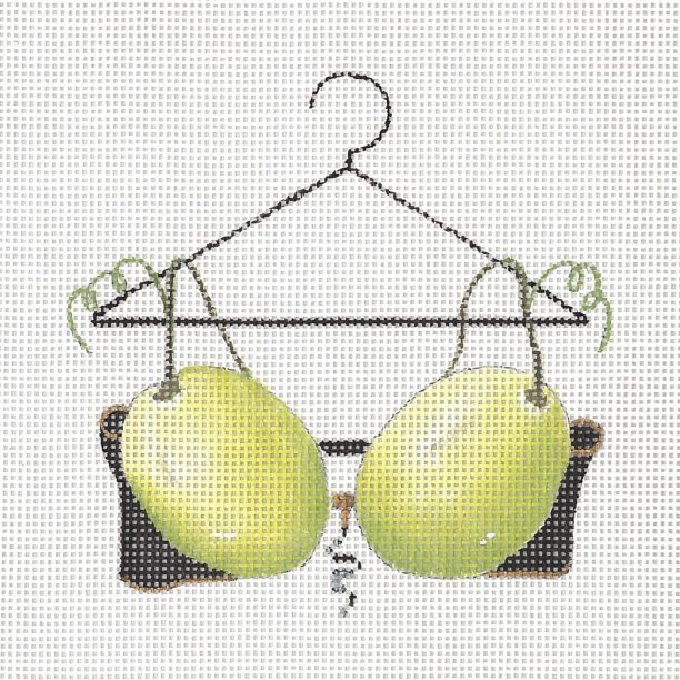 click here to view larger image of White Wine Bra (hand painted canvases)