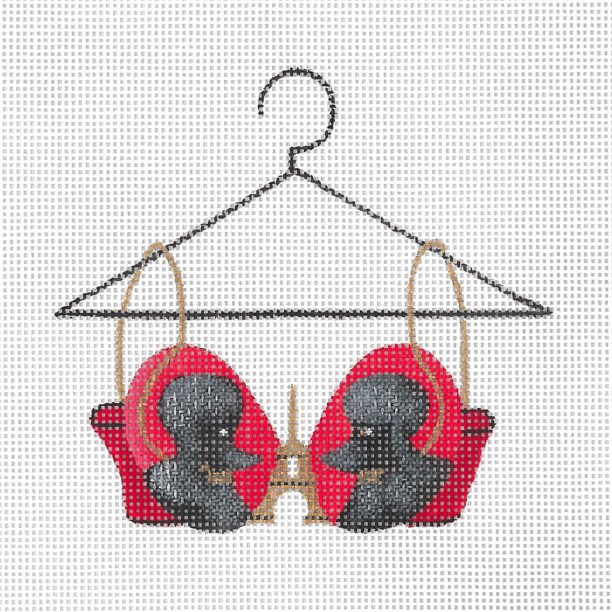 click here to view larger image of French Poodle Bra (hand painted canvases)