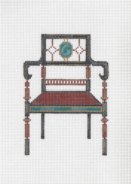 click here to view larger image of Regency Chair (hand painted canvases)