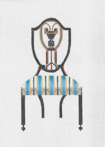 click here to view larger image of Federal Chair (hand painted canvases)