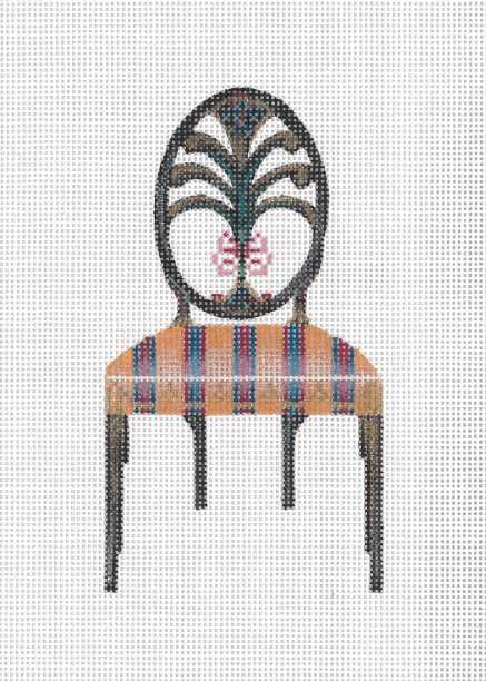 click here to view larger image of Hepplewhite Chair (hand painted canvases)