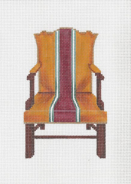 click here to view larger image of Open Arm Chippendale Chair (hand painted canvases)