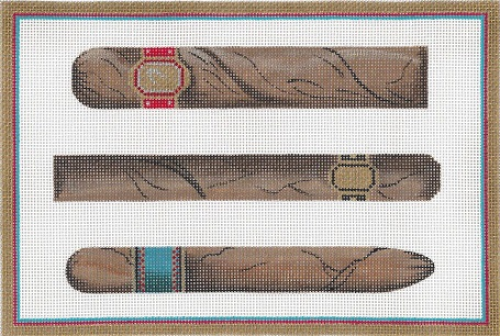 click here to view larger image of Three Cigars (hand painted canvases)