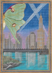 click here to view larger image of Luna City (hand painted canvases)