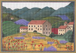 click here to view larger image of Tuscan Spring (hand painted canvases)