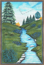 click here to view larger image of Spring Stream (hand painted canvases)