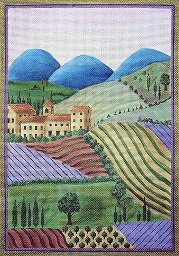 click here to view larger image of Provence (hand painted canvases)