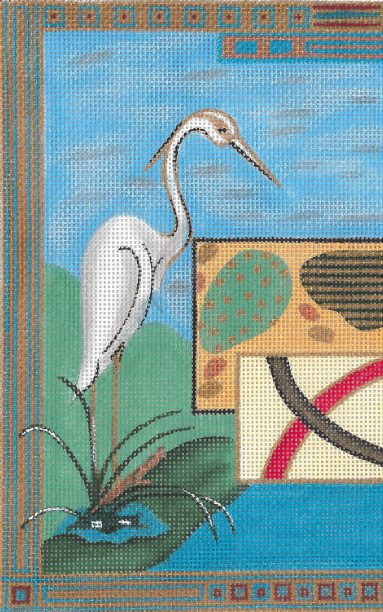 click here to view larger image of 11th Hour Triptych-Heron (hand painted canvases)
