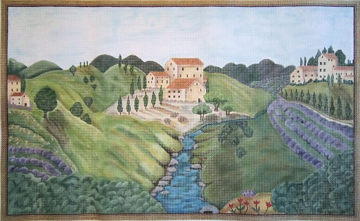 click here to view larger image of Provence Stream (hand painted canvases)