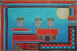 click here to view larger image of Owl Trio (hand painted canvases)