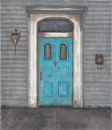 click here to view larger image of Orleans Italiante Door (hand painted canvases)